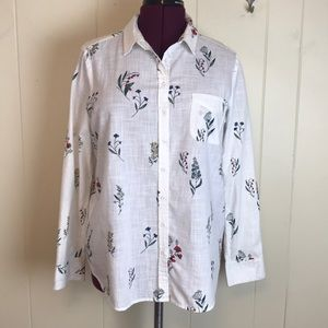Fat Face Olivia Harvest Button Down Floral Shirt